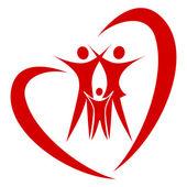 Srdce rodiny vektor