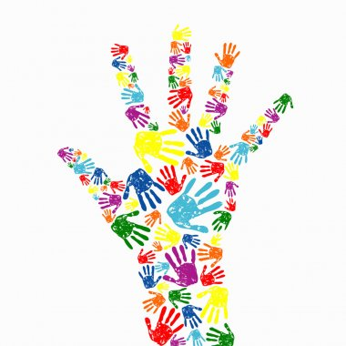 Hand prints background