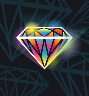 Seamless texture with diamonds
