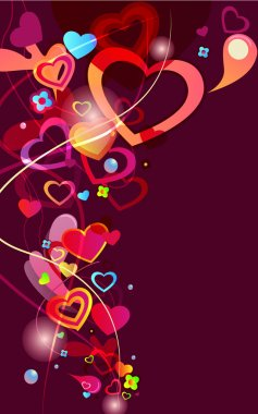 Abstract vector valentine background