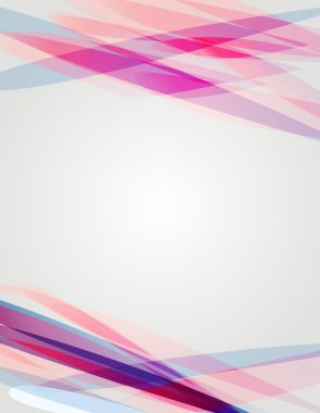 Abstract background with bright shapes