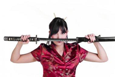 Girl with katana