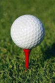 Golfový míček v trávě