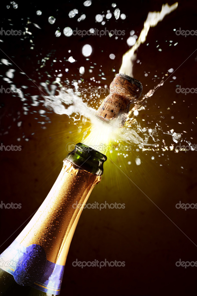 nahaufnahme der champagner korken knallen stockfoto 4255604. Black Bedroom Furniture Sets. Home Design Ideas