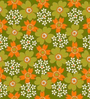 1970s retro seamless flower pattern