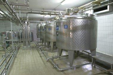 Temperature controlled pressure tanks in factory
