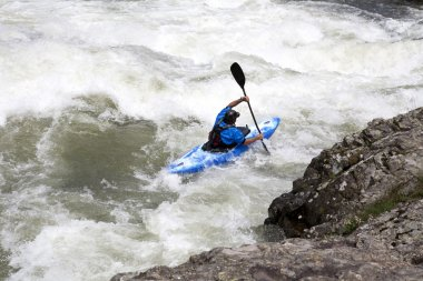 White water canoieng