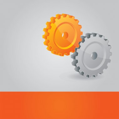 Abstract vector background with cogwheels