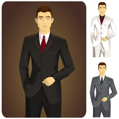 Man in Suit Set - 1