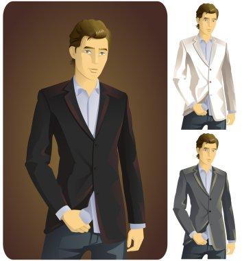 Man in Suit Set - 3