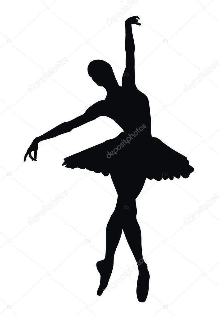 ballerina stock vector oorka5 4179846 rh depositphotos com ballerina victor ballerina vector art free