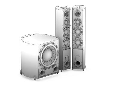 Audio acoustics system HI-FI