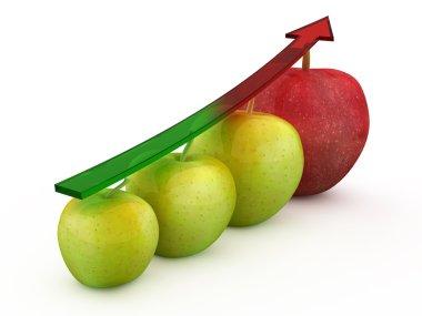 Colored Aple Fruit