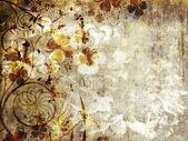 Fotografie grunge květinové pozadí