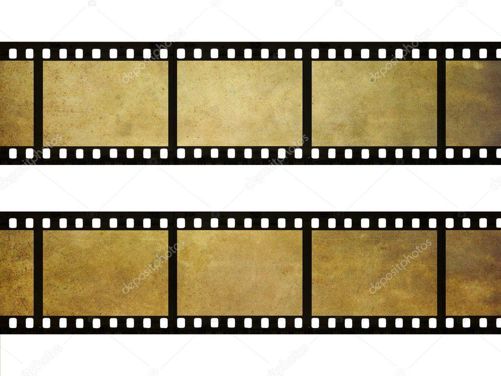 Old Film Reel Texture Grunge film strip text...