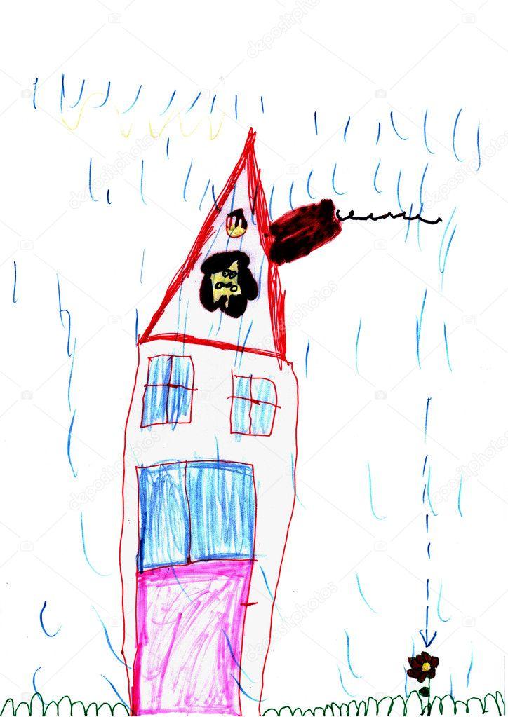 lustige Haus - Hand zeichnen — Stockfoto © alinbrotea #4823591