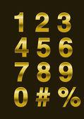 Photo Golden Numbers