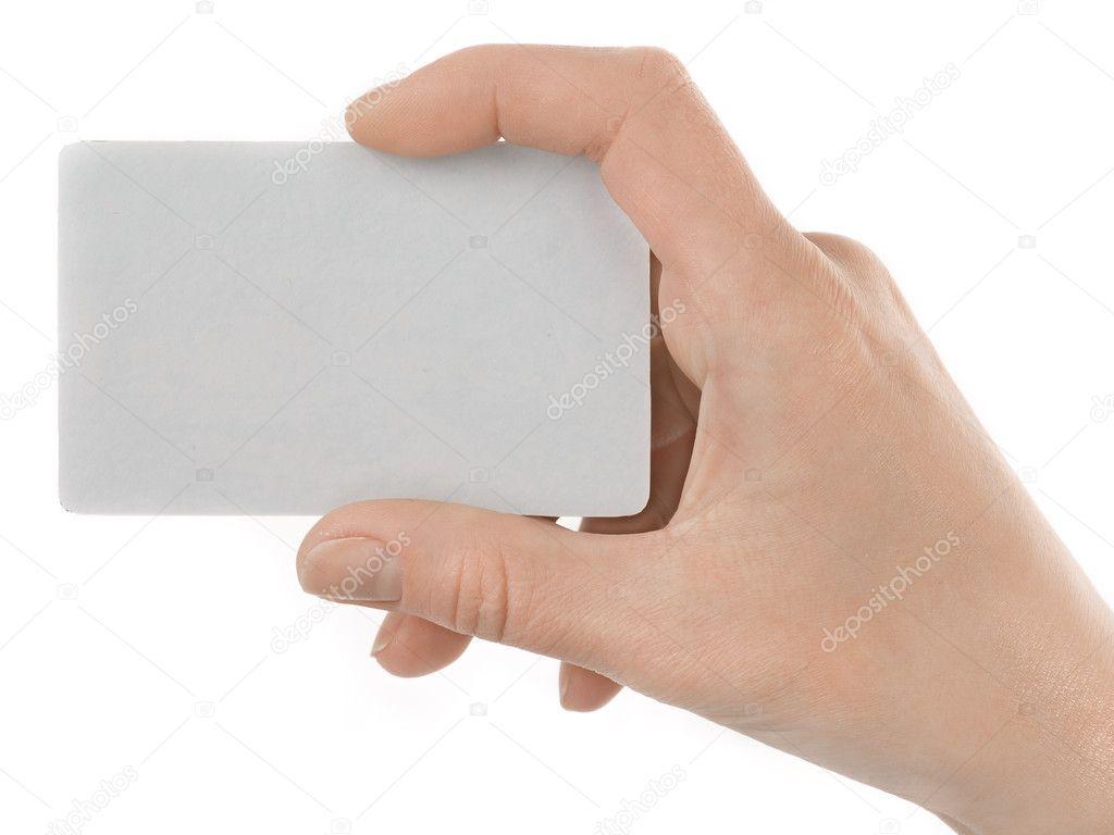 Technology Management Image: Credit Card Female Hand Holding