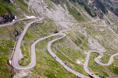 View with adventurous road of Transfagarasan