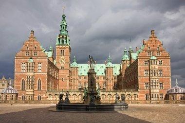 Front view of Frederiksborg castle in Hellerod, Denmark stock vector