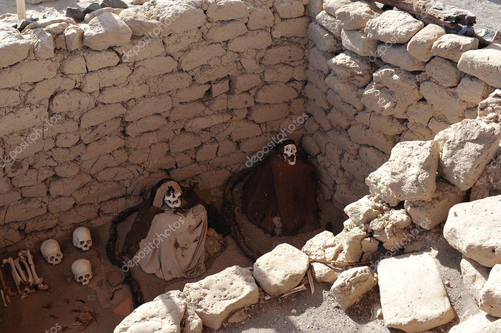 Graves on Nazca desert