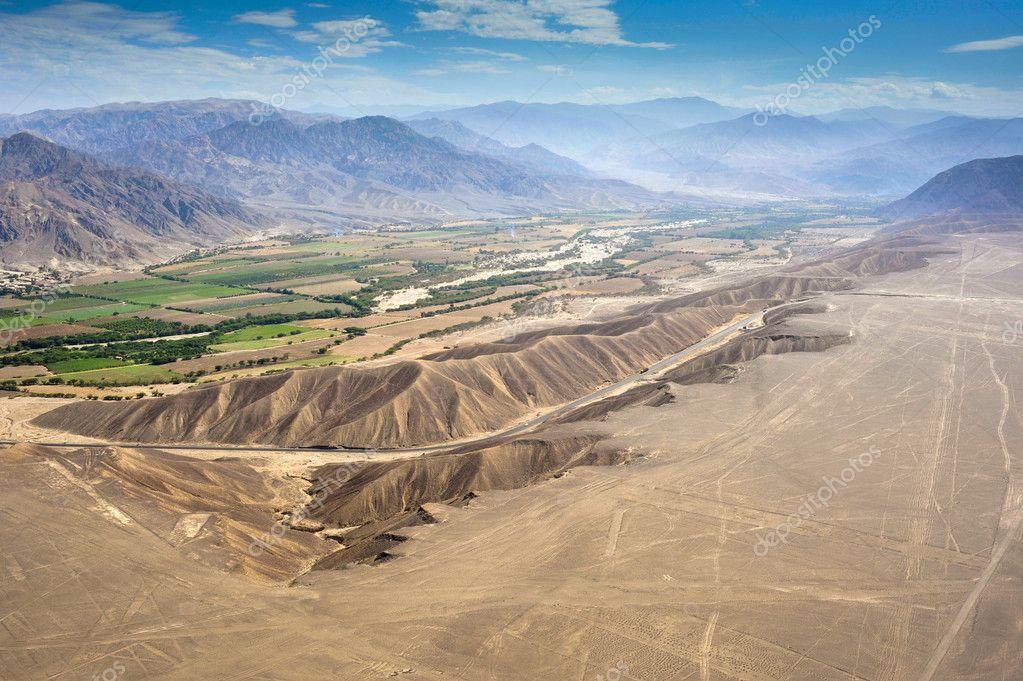 Nazca desert in Peru