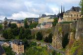 pohled z kasematy na staré město Lucemburk