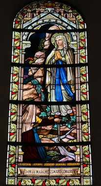 Stained glass window in the Cathedral of Luxembourg