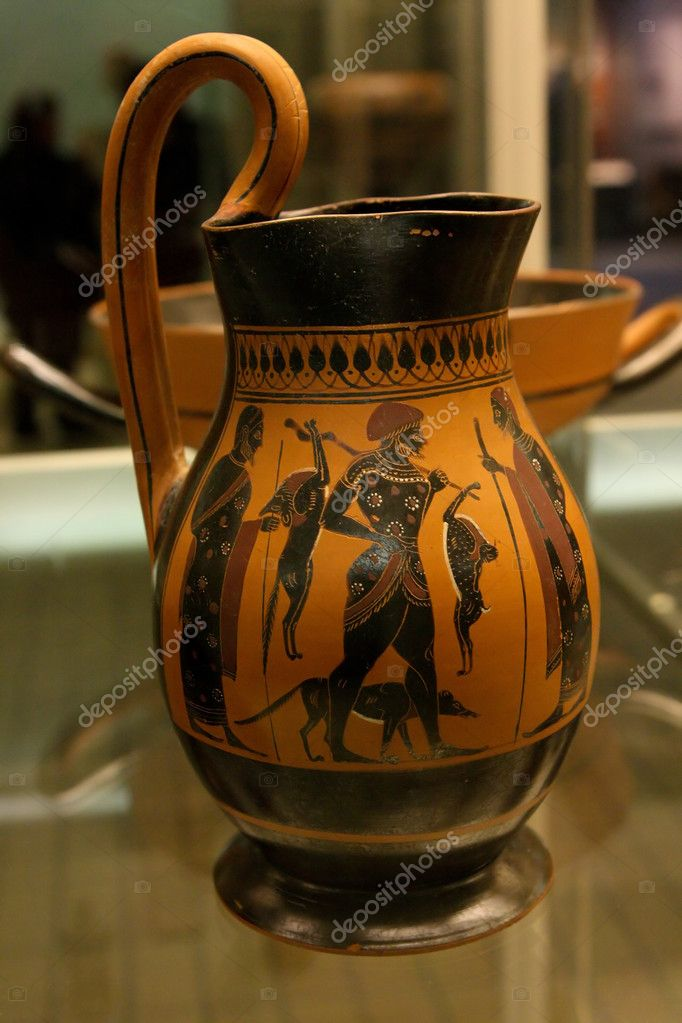 Ancient Greek Vase In British Museum In London Stock Editorial