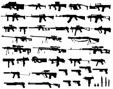 Big arsenal weapon stock vector