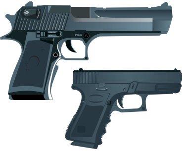 Desert Eagle & Glock stock vector
