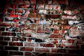 zeď; cihla; špinavý; pozadí; staré; texturou