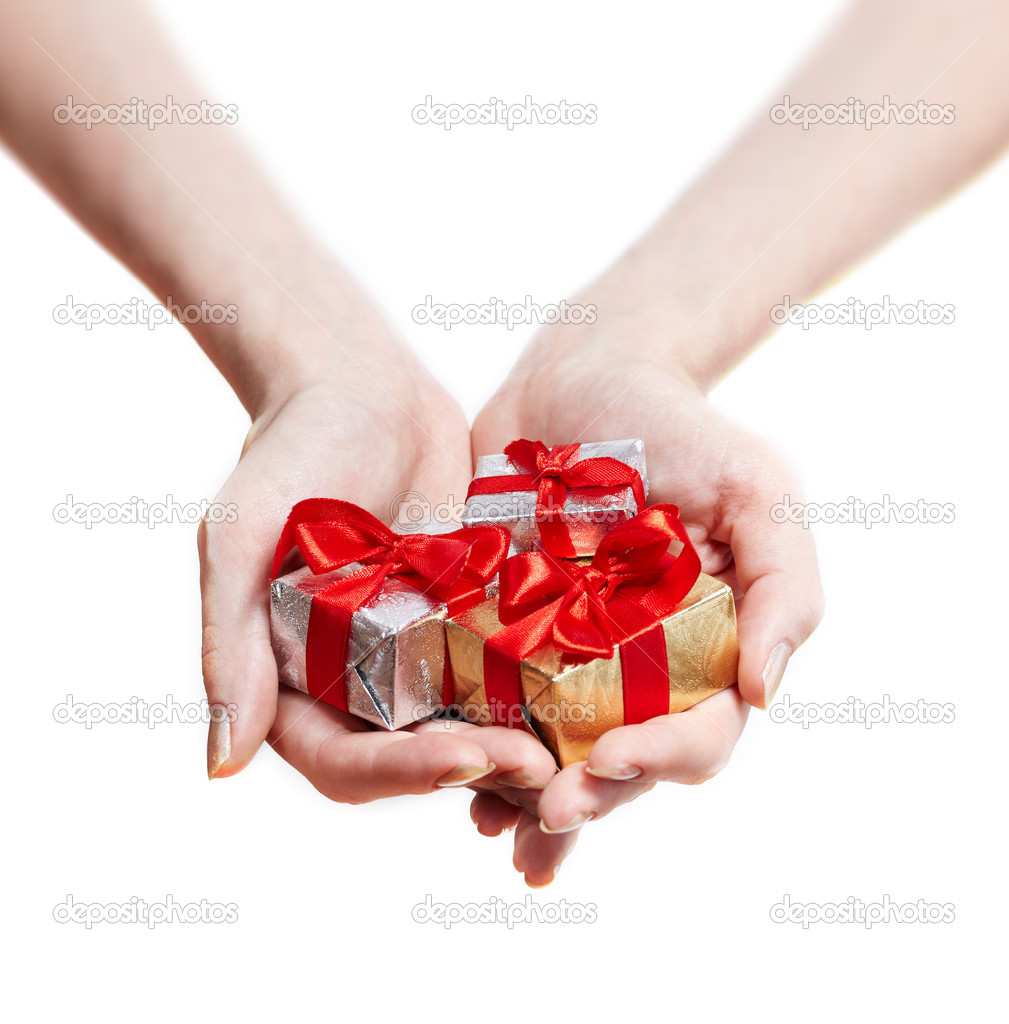 Woman hands giving gifts isolated on white stock photo woman hands giving gifts isolated on white stock photo negle Gallery