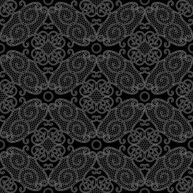 Tile black lace background clip art vector