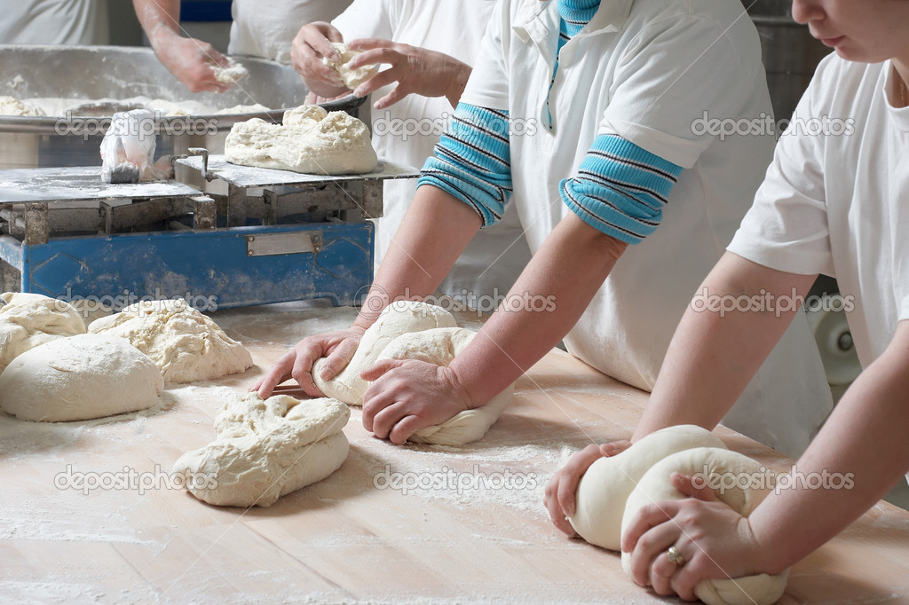 Working bakery team