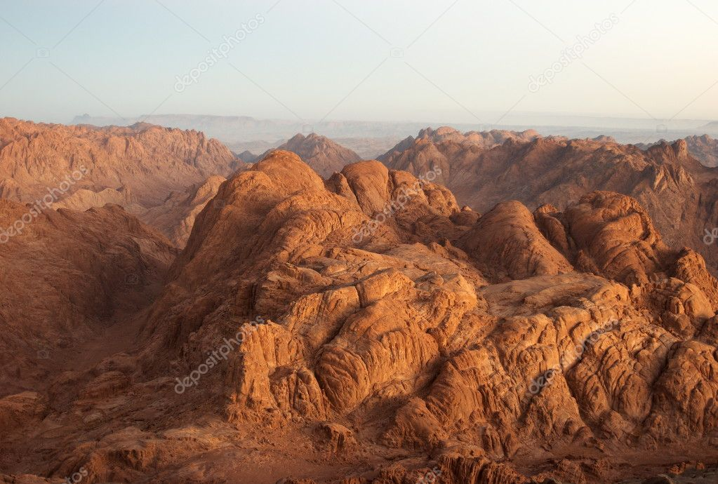 Panorama rocks in early morning