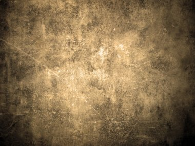 Old and grunge wall texture in sepia color