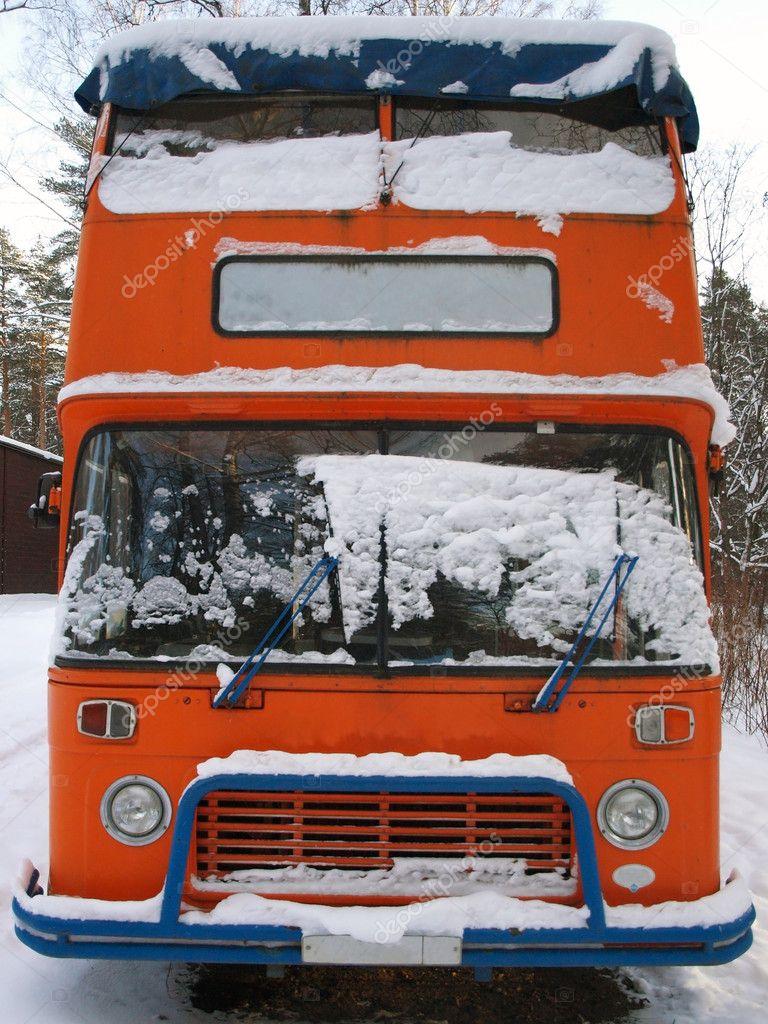 Retro double-decker English bus