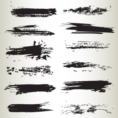Line brushes , vector illustrated clip art vector