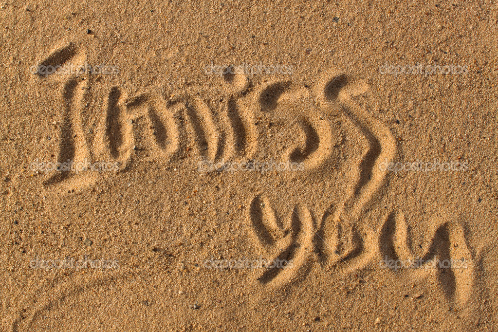 Words on sand — Stock Photo © jester #4245592