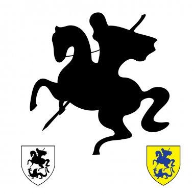 Knight on a horse.Saint George
