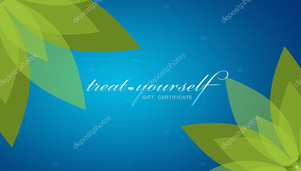 treat yourself gift certificate stock photo kbuntu 4666768