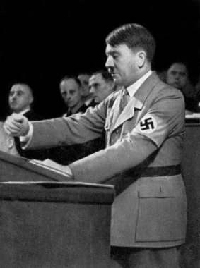 Portrait of Adolf Hitler, leader of nazi Germany