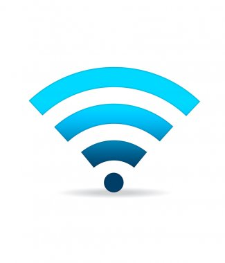 Blue WIFI Sign