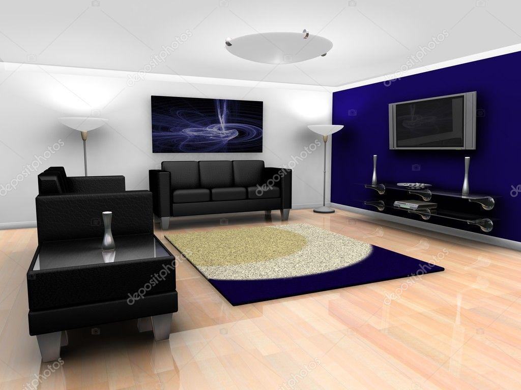 Eigentijdse lounge-interieur — Stockfoto © kjpargeter #4376063