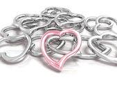 Fotografie metallische Herzen