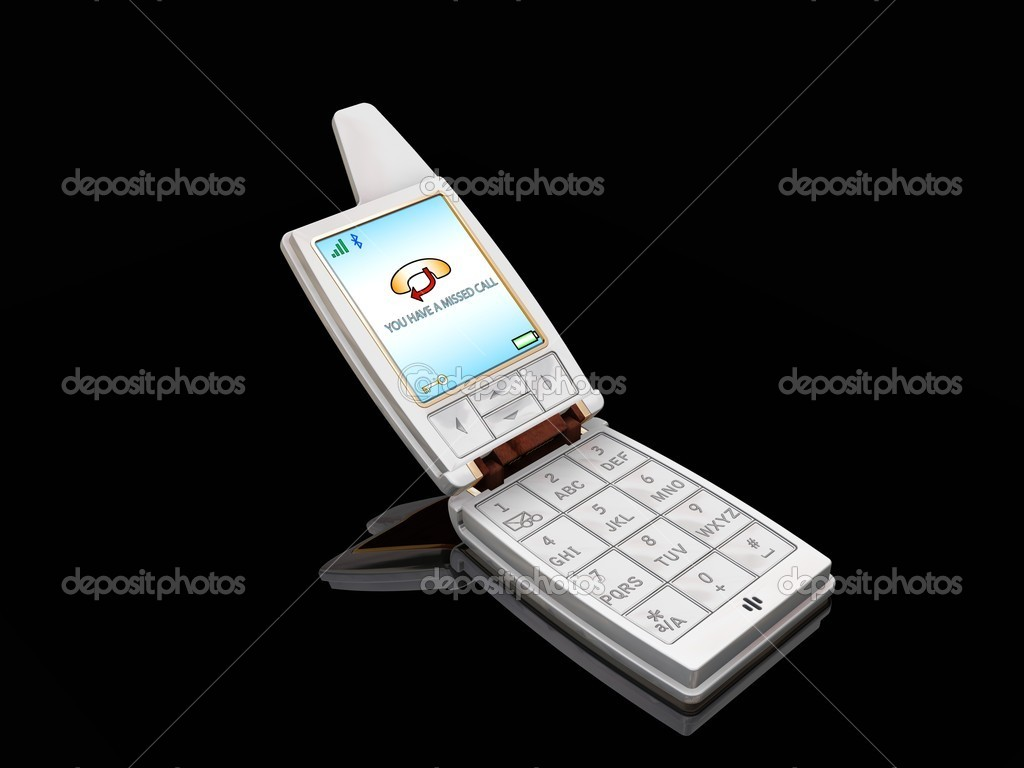 3D Render Of A Mobile Phone With Missed Call Showing On The Screen Photo By Kjpargeter