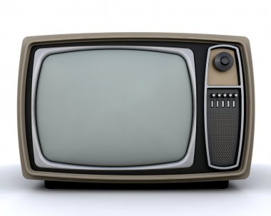 Retro styled television stock vector