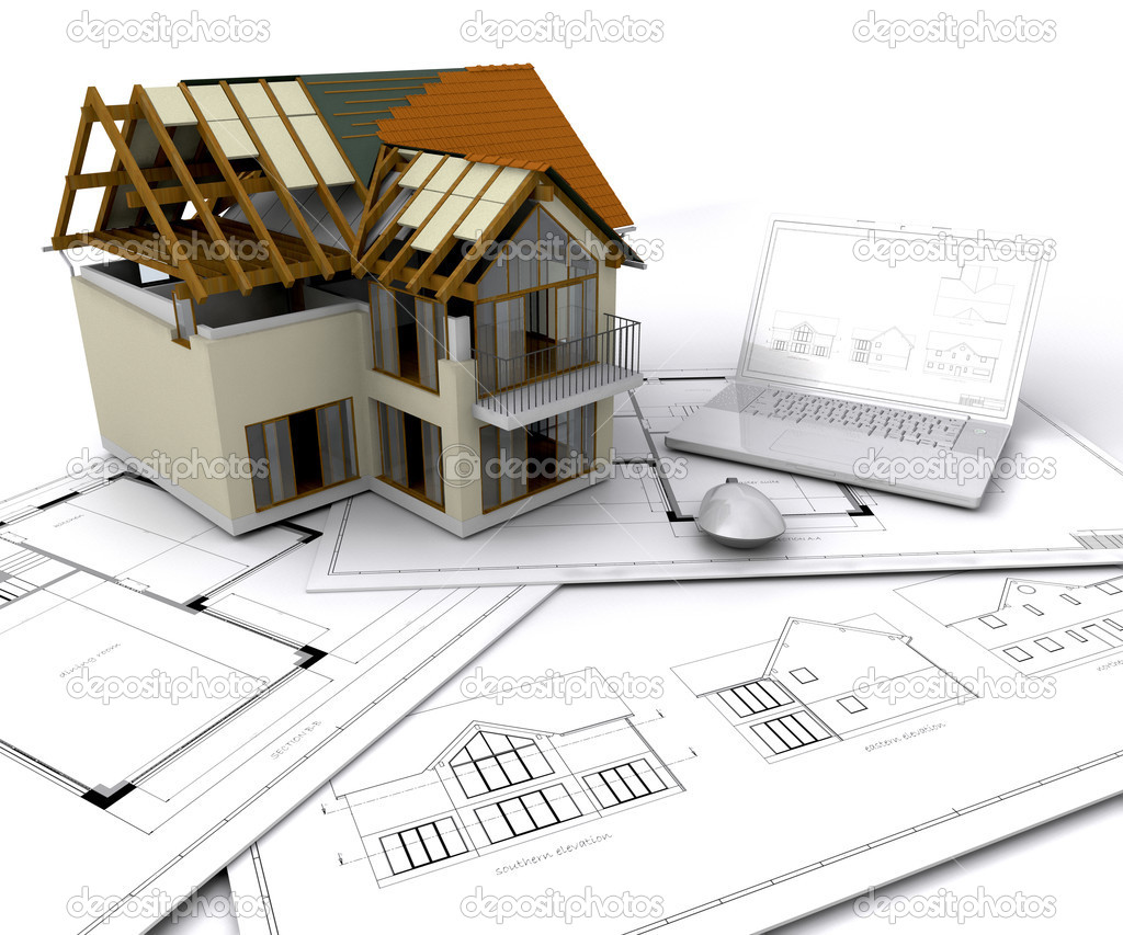 House under construction stock photo kjpargeter 4411446 - When to start building a house ...
