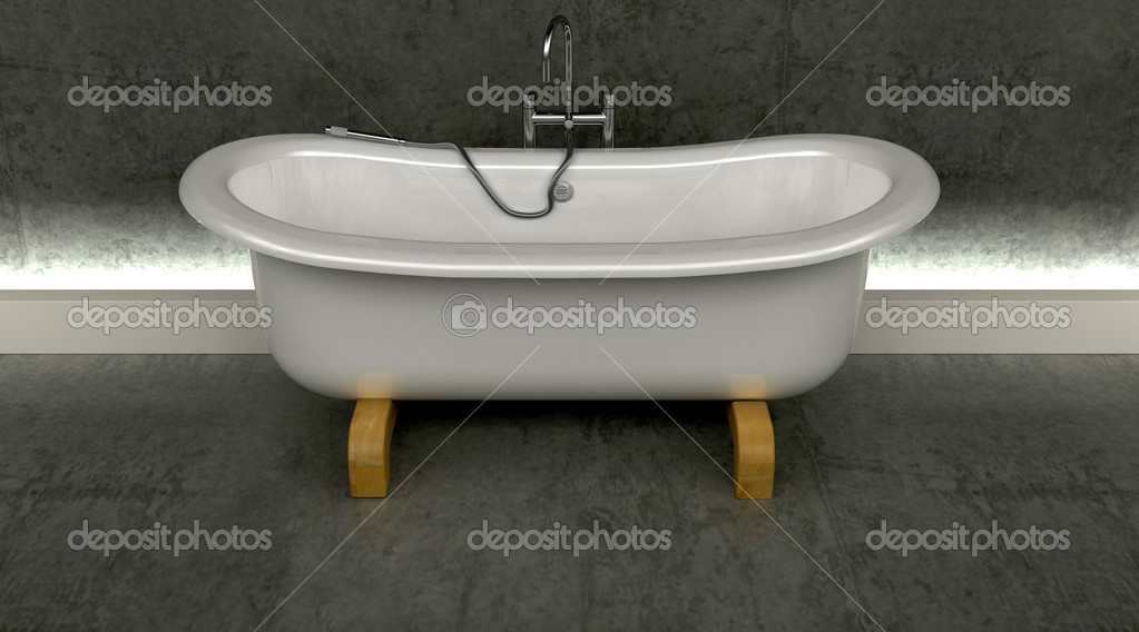Classic roll top bath — Stock Photo © kjpargeter #4414634
